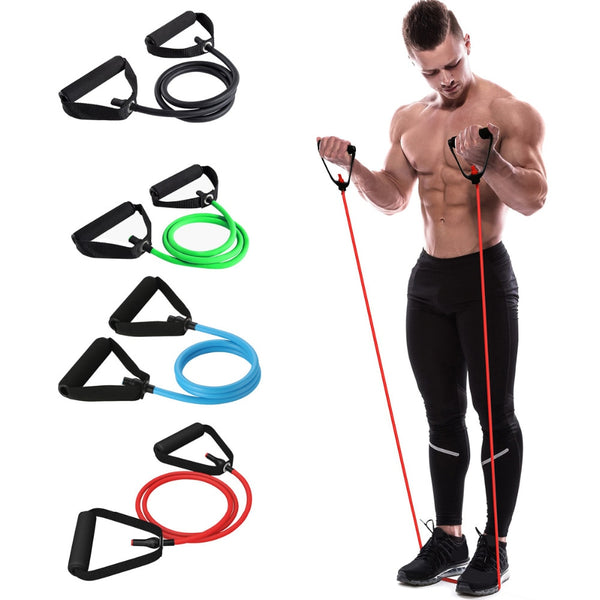 120cm Pull Rope Elastic Resistance Bands Fitness Workout Exercise