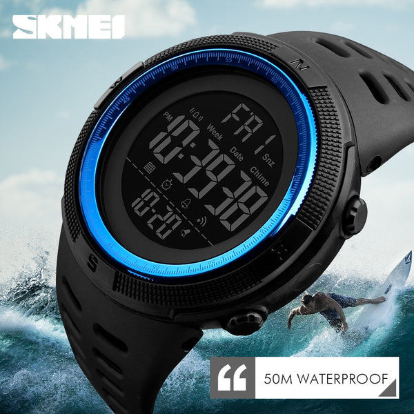 Waterproof New Fashion Casual LED Digital Outdoor Multifunction Watch