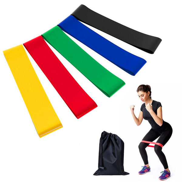 Resistance Bands 6 Levels Exercises Elastic Fitness Training