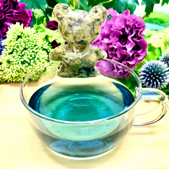 【Premium  herbal tea  - Chasane】Greeting card- Herbal tea (Baby blue)