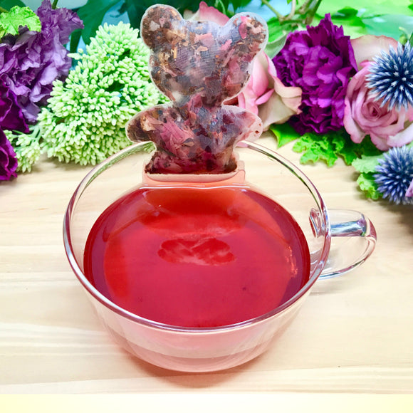 【Premium herbal tea - Chasane】Greeting card- Herbal tea (Baby red)