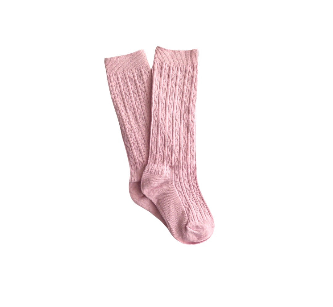 Knee High Socks | Powder Pink