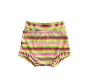 Retro Rainbow Striped Rib Bummy 2.0