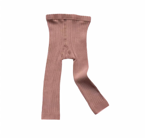 Ribbed Tights | Dusty Pink