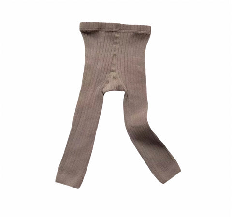 Ribbed Tights | Taupe