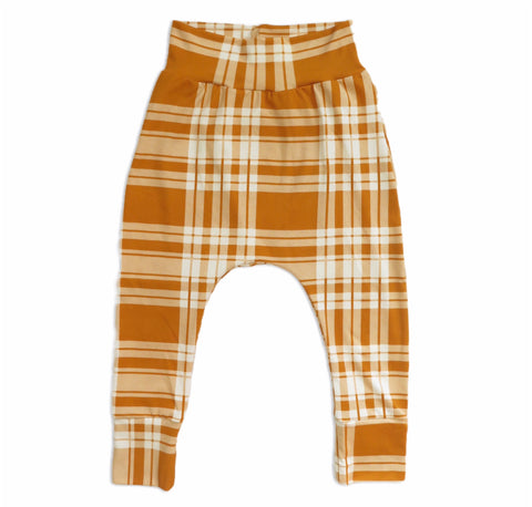 TARTAN PLAID MUSTARD – JOGGER PANTS