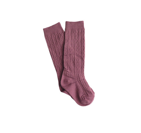 Knee High Socks | Plum