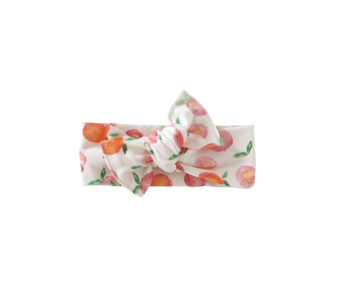 Watercolor Peaches | Bow