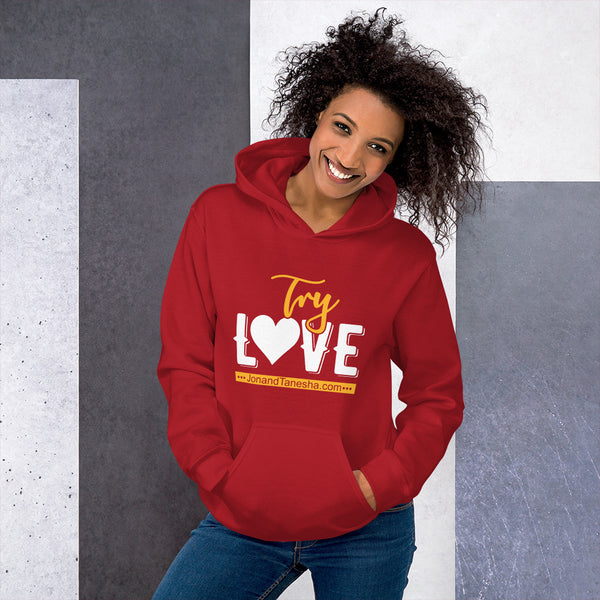 """Try Love"" Hoodie (Black, Blue, Green, Maroon, Navy, Red, Grey)"