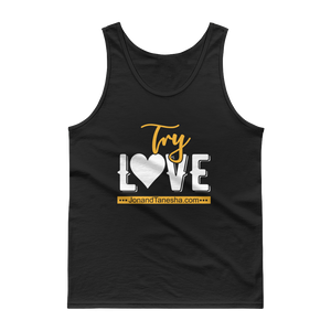 """Try Love"" Tank Top (Black, Grey)"