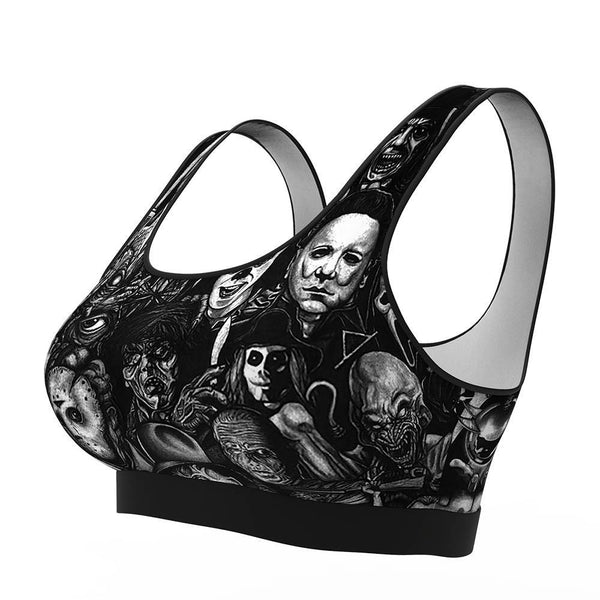 Women's Sports Bra - All Horror Movie Bra