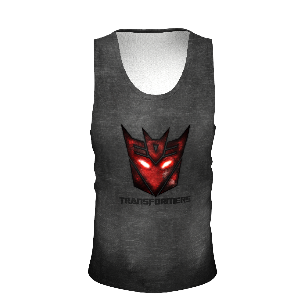 Transformers Black Men's Tank Tops