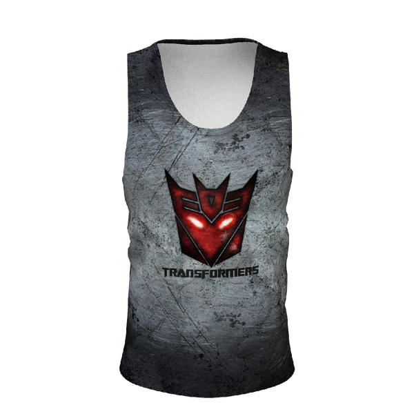 Transformers Grey Men's Tank Tops