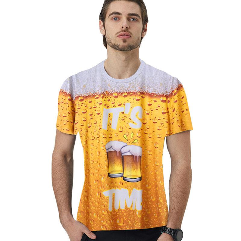 Bubble Beer 3D T-shirt For Couple