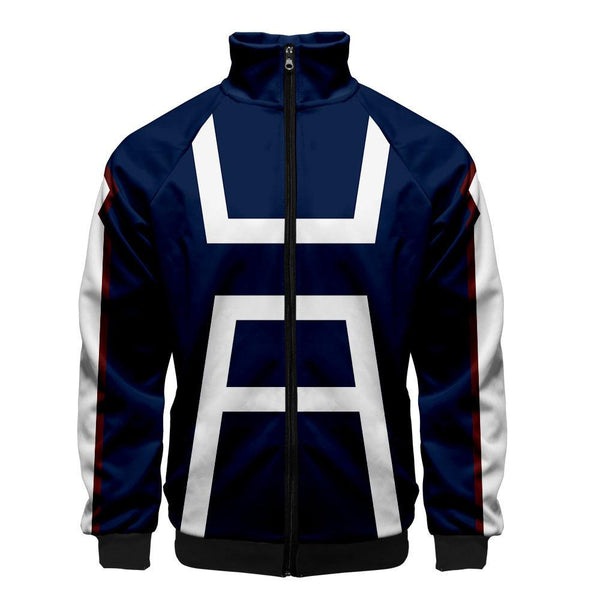 2019 3D My Hero Academia Unisex Jacket - Dark Blue