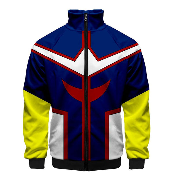 2019 3D My Hero Academia Unisex Jacket - Yello and Blue