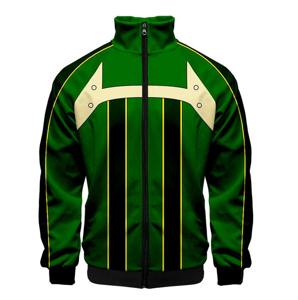 2019 3D My Hero Academia Unisex Jacket - Grass green