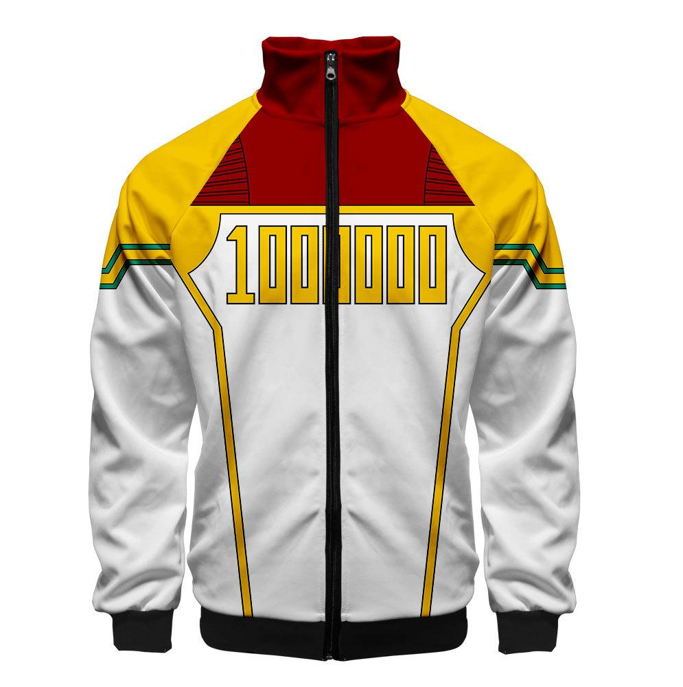 2019 3D My Hero Academia Unisex Jacket - Yellow and White
