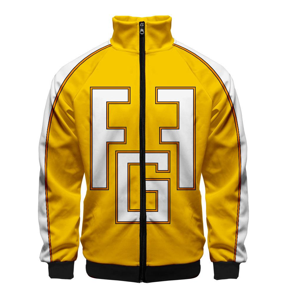 2019 3D My Hero Academia Unisex Jacket - Yellow