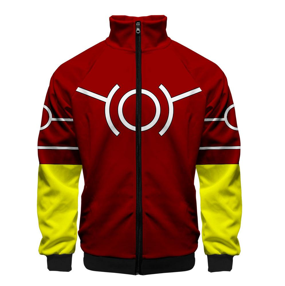 2019 3D My Hero Academia Unisex Jacket - Red