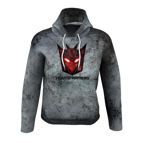 Transformers Grey Men's Hoodie