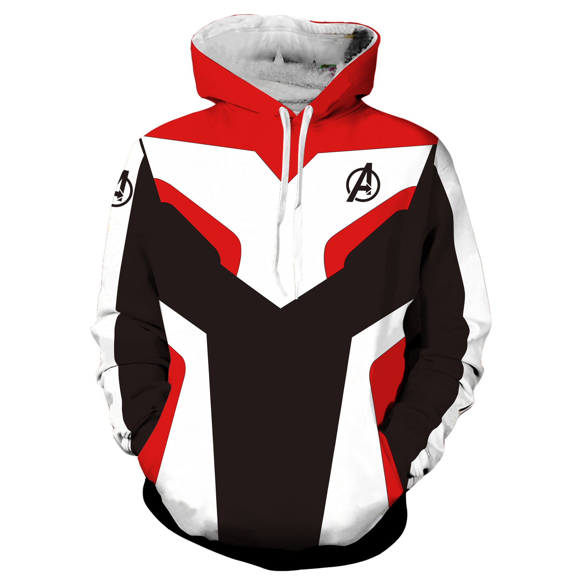 Avengers4: Endgame Quantum battle suit 3D pullover - Red + white