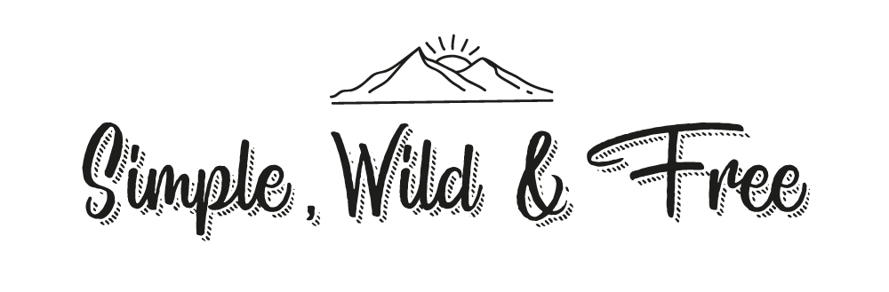 simple wild and free black logo