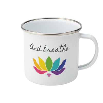 And Breathe Enamel Mug