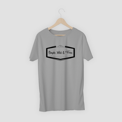 Grey T-shirt with logo