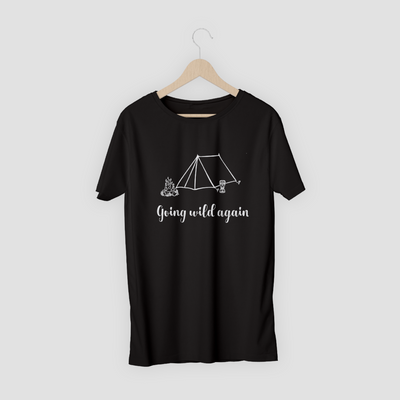 Black T-shirt with Wild Camping Design