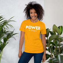 "Load image into Gallery viewer, Unisex Short Sleeve ""Power in Prayer"" T-Shirt"