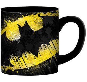 BATMAN SPLATTER PAINT LOGO 14oz CERAMIC MUG