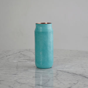 Small Hammered Copper Vase in Oxide Finish. Estudio Pomelo. Made in Mexico