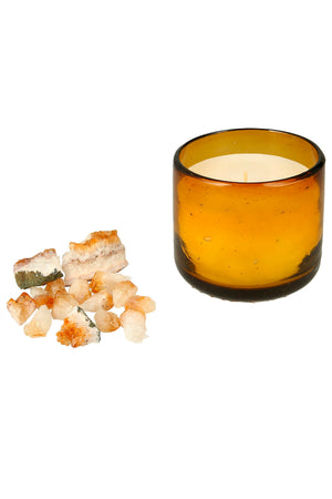 Amber CLARITY Healing Candle