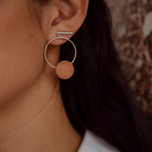 Cosmos Copper Earrings