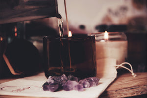 Black INTUITION Healing Candle