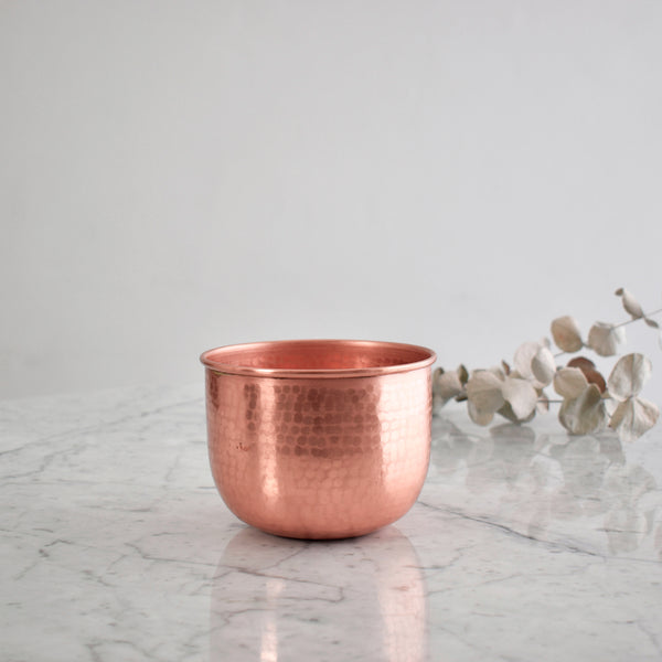"""Maceta"" Hammered Copper Pot"