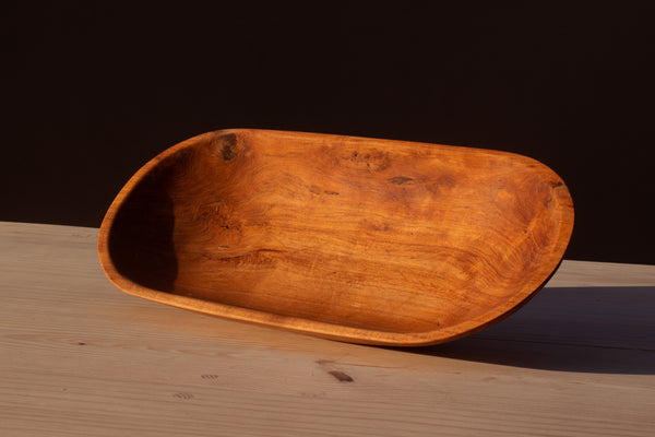 Oval Handcarved Mesquite Wood Salad Bowl