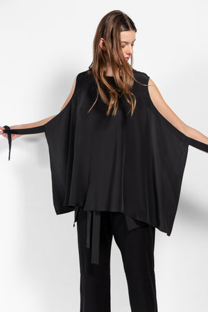 Simple by Trista _ Acturus Crêpe de Chine Wrap Blouse