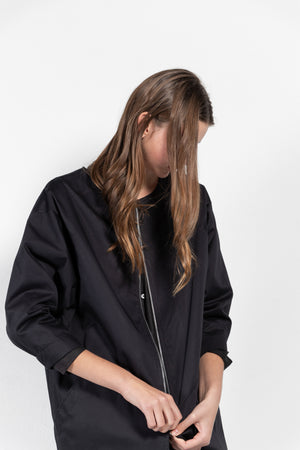 Artical Geometric Sleeve Full Zip Coat
