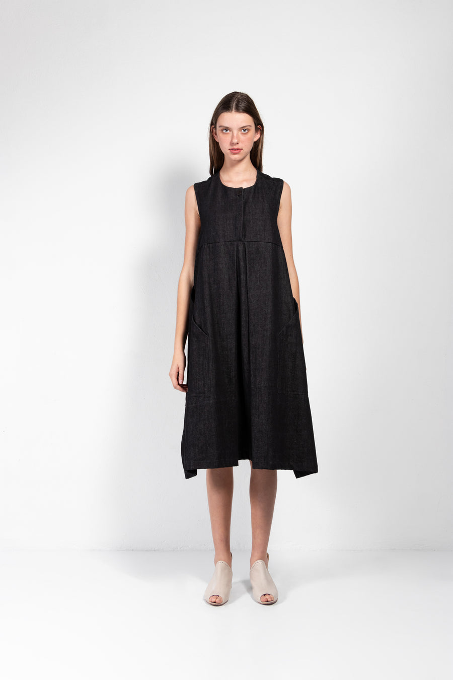 Atenea Sleeveless Denim Wrap Dress