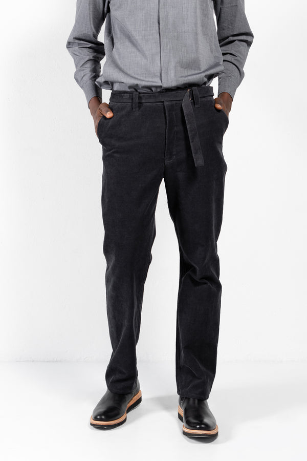 Baltazar Cotton Corduroy Slide Buckle Belt Pants