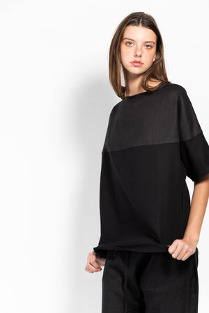 Delphinus Linen Short-Sleeved Sweatshirt