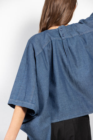 Lima Oversized Washed Denim Blouse