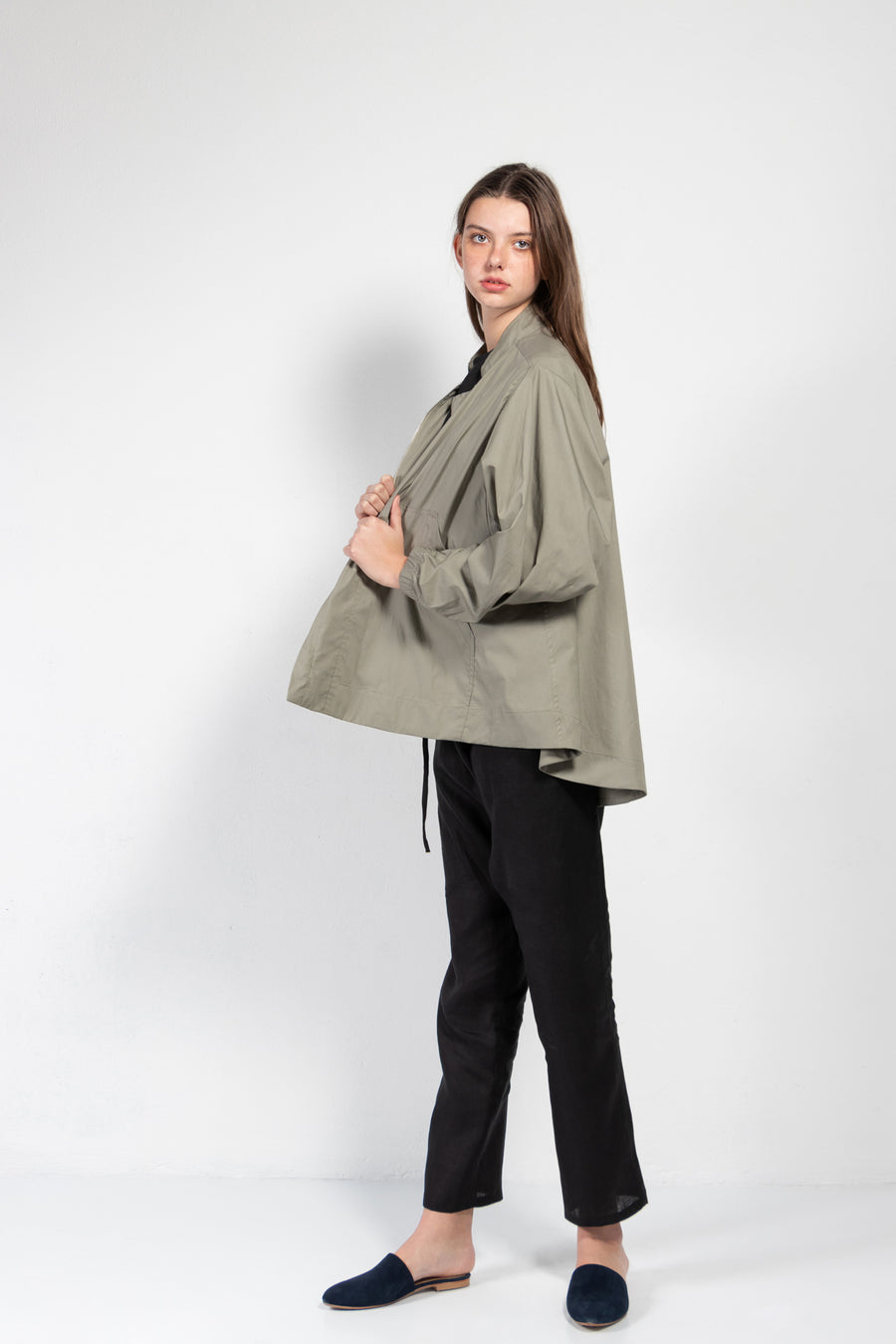 Moon Oversized Poplin Bomber Jacket