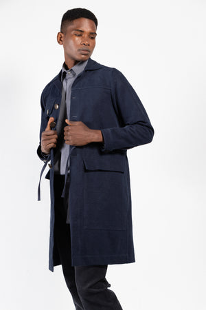 Neruda Washed Canvas Button Down Coat