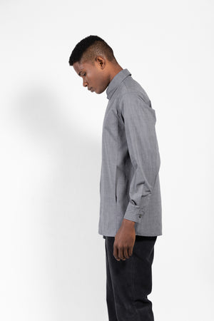 Fauno Tailored Front Pocket Hidden Button Shirt