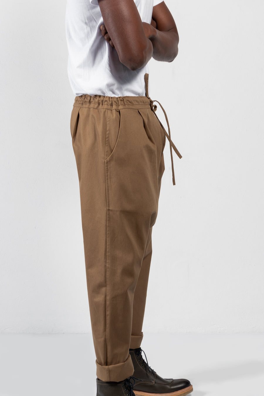 Jorge Twill Dropped Crotch Drawstring Pants