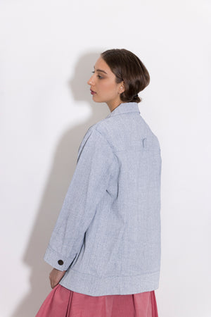 Simple by Trista womenswear coated denim jacket
