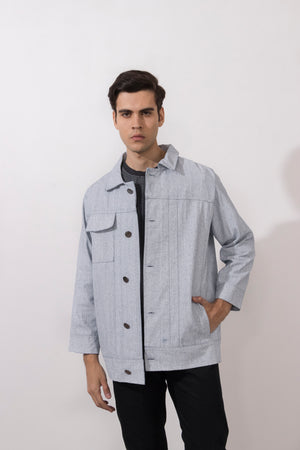 Simple by Trista menswear coated denim jacket